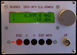The front panel of the DDS-VFO